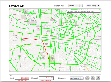 Aplikasi Ekstraksi dan Visualisasi Informasi Lalu Lintas Kota Bandung